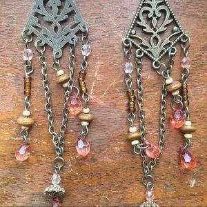 🎄B2G1  now $11 Chandelier beaded Earrings
